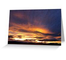 Tasmanian Sunset Greeting Card