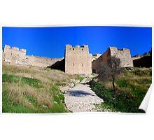 Acrocorinth Castle,Peloponnese Poster