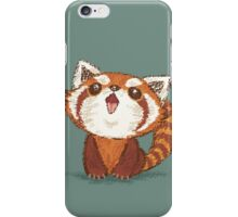 Red panda happy iPhone Case/Skin