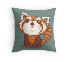 Red panda happy Throw Pillow