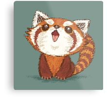 Red panda happy Metal Print