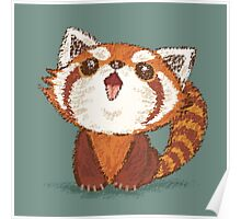 Red panda happy Poster