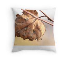 White birch leaf Betula papyrifera C Throw Pillow