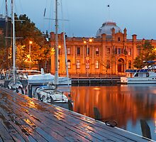 Constitution Dock, Hobart, Early Morning #2 by Chris Cobern