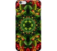 Peppy red and green pepper mandala iPhone Case/Skin