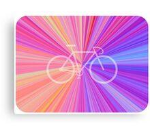Bike Pink Gradient Canvas Print