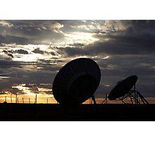 Telstra Satellite Dishes, Coober Pedy Sunrise Photographic Print