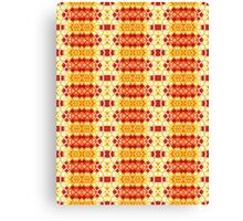 Yellow, Orange and Red Abstract Design Pattern Canvas Print
