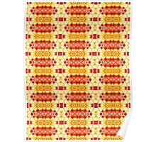 Yellow, Orange and Red Abstract Design Pattern Poster