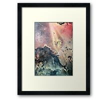 light rays Framed Print