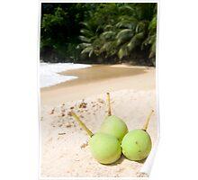 Beach Fruits Poster