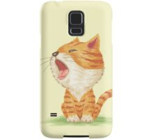 Tabby to yawn Samsung Galaxy Case/Skin