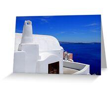 Santorini's Blue Whiteness Greeting Card
