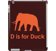 D is for Duck iPad Case/Skin