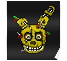 Five Nights at Freddy's 3 - Pixel art - SpringTrap / Golden Bonnie / Rotten Bonnie Poster