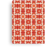 Red, Orange and White Abstract Design Pattern Canvas Print