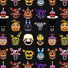 Five Nights at Freddys - Pixel art - Multiple characters by GEEKsomniac