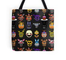 Five Nights at Freddy's - Pixel art - Multiple characters Tote Bag