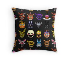 Five Nights at Freddy's - Pixel art - Multiple characters Throw Pillow