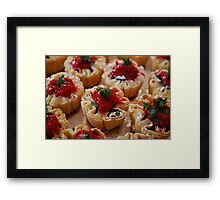 Dark Chocolate & Rasberry Tarts Framed Print