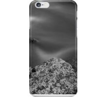 Moss River Rock in Black and White iPhone Case/Skin