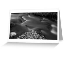 Moss River Rock in Black and White Greeting Card