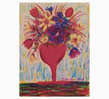 Flowers in Red Vase T-Shirt