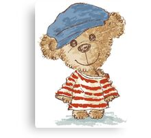 Teddy bear and clothes Canvas Print