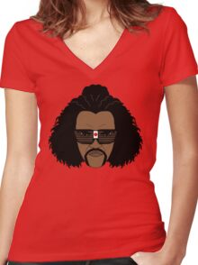 Sho Nuff the shogun of Harlem! Women's Fitted V-Neck T-Shirt