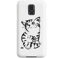 sketch of cat looks up Samsung Galaxy Case/Skin