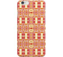 Red, Yellow and White Abstract Design Pattern iPhone Case/Skin