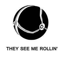 They See Me Rollin' My Morph Ball (Black)  by shadowryo