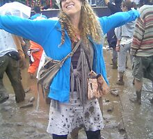 Muddy in Japan and loving it...my sis by tim norman