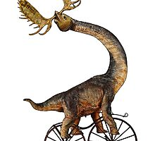 Brachiosaurus Brachiolope on Velocipede by SirLeeTees