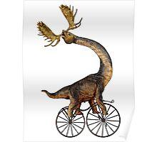 Brachiosaurus Brachiolope on Velocipede Poster