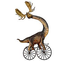 Brachiosaurus Brachiolope on Velocipede Photographic Print