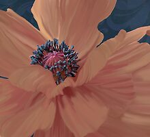 Color Theory, complimentary colors, poppy damask floral by Glimmersmith