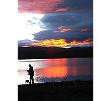 Malheur Reservoir Sunset Photographic Print