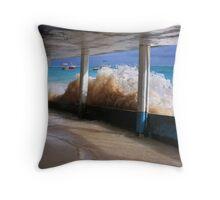 HouseBoat Wave - Caribbean Ocean Throw Pillow