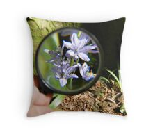 Through the looking glass. Throw Pillow