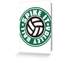 Spike_It_Volleyball Greeting Card