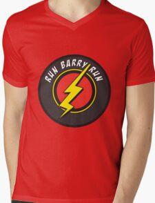 RUN BARRY RUN Mens V-Neck T-Shirt
