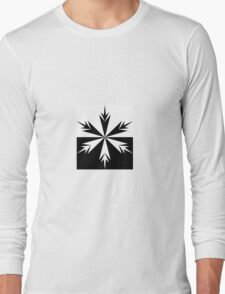 Positive Negative Snow Flake Long Sleeve T-Shirt