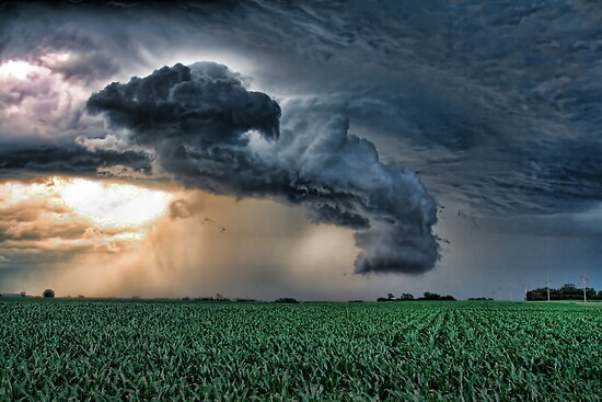 Tornado Wall Cloud! by Peter Thorpe