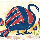 """My Big Fat Greek Goose"" No. 1 by Elisabeta Hermann"