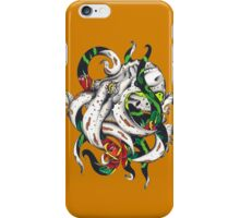 Octopus kissed by a rose iPhone Case/Skin
