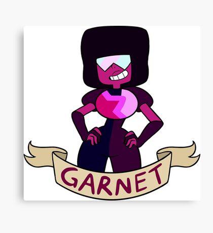 Garnet Ribbon Canvas Print