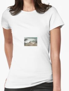 Flowers in the wave Womens Fitted T-Shirt