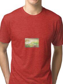 Flower wave Tri-blend T-Shirt