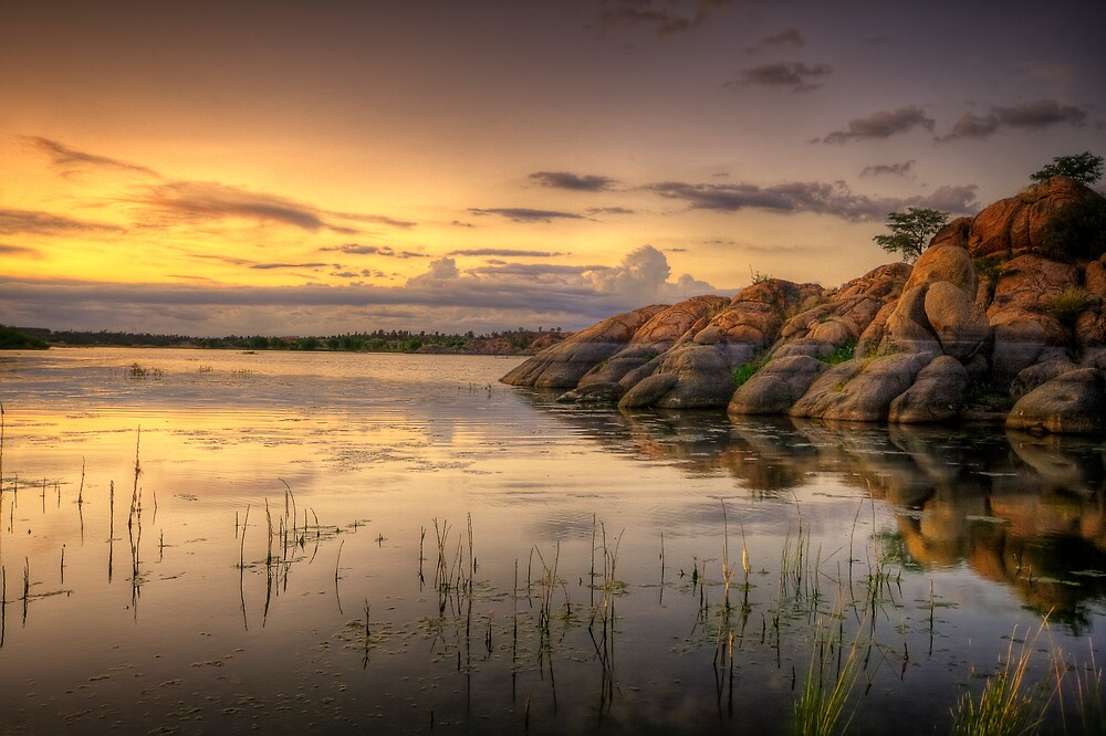 Sunset on the Rocks by Bob Larson